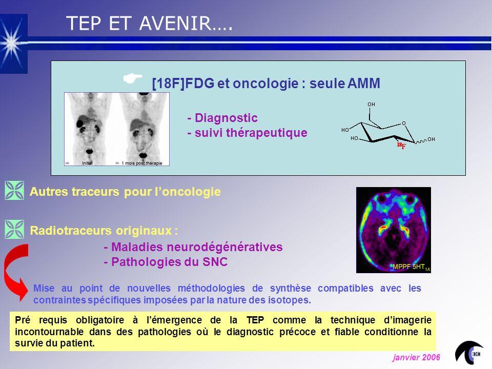  [18F]FDG et oncologie : seule AMM